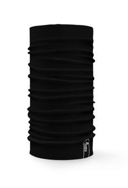 Bandana tubolare multifunzione a tinta unita di colore nero