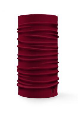 Bandana tubolare multifunzione a tinta unita di colore bordeaux
