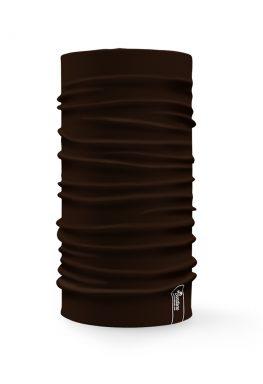 Bandana tubolare multifunzione a tinta unita di colore marrone