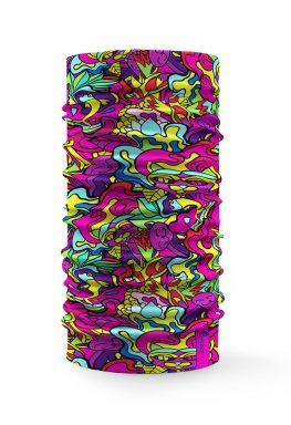 """Bandana scaldacollo """"Carnival"""" con forme artistiche multicolore"""
