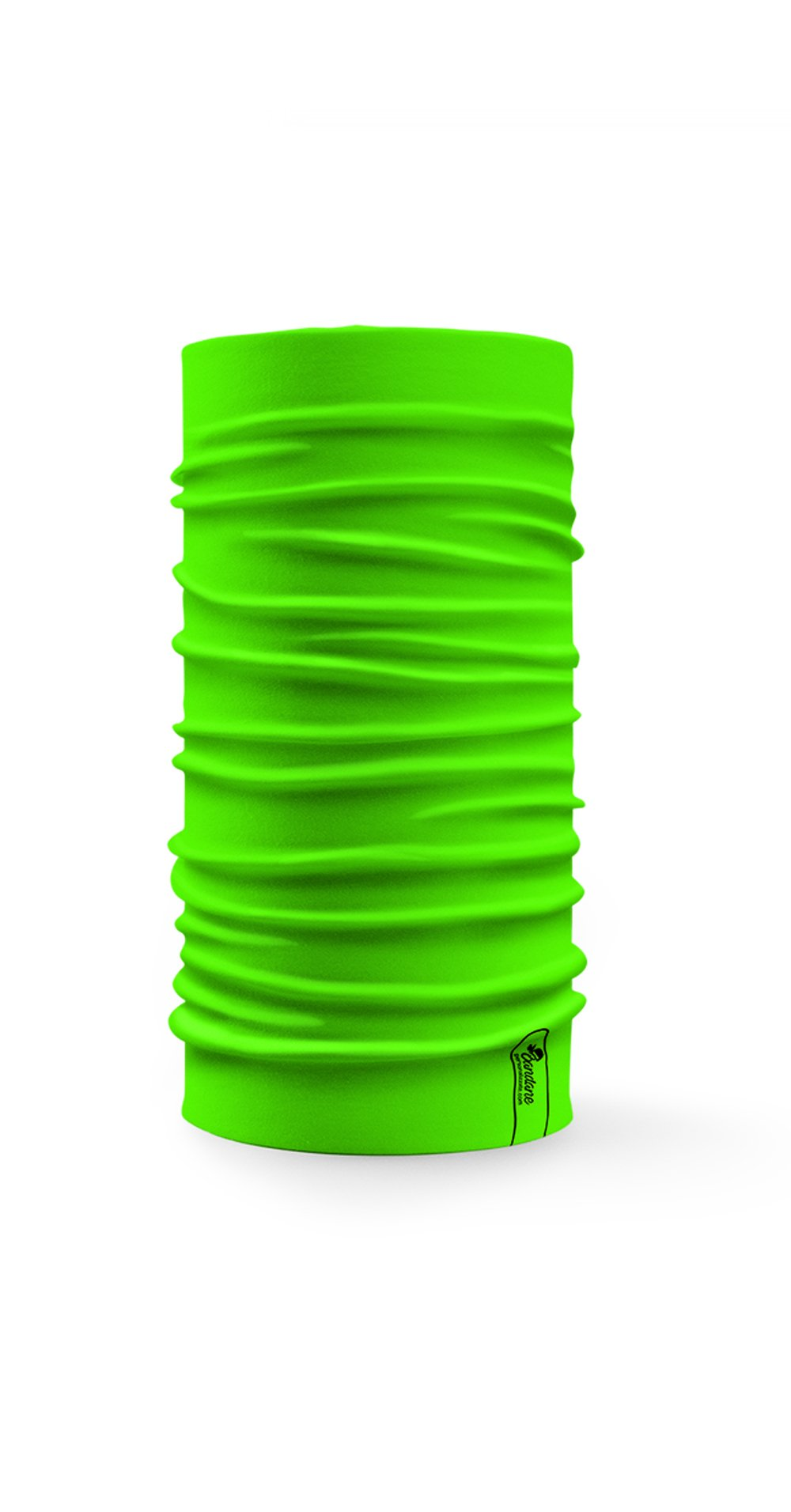 Bandana tubolare multifunzione a tinta unita color verde fluo ad alta visibilità