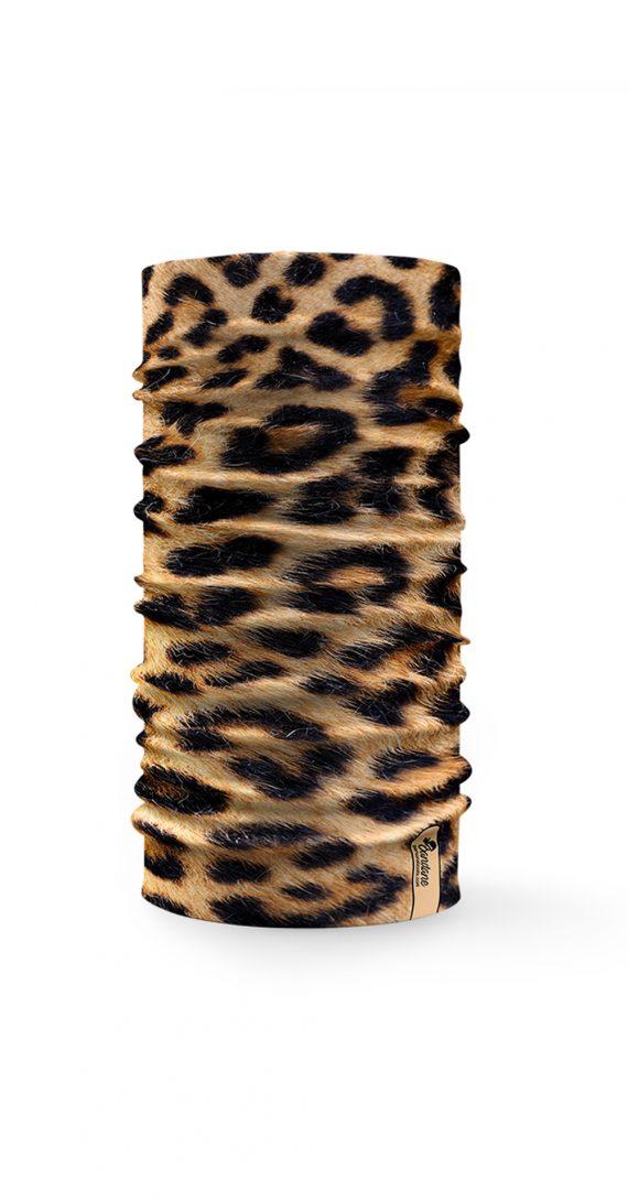 Bandana tubolare con effetto pelle di leopardo