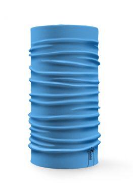 Bandana tubolare multifunzione a tinta unita di colore azzurro