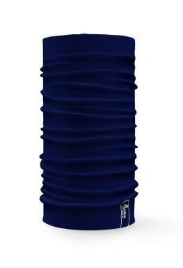 Bandana tubolare multifunzione a tinta unita di colore blu scuro
