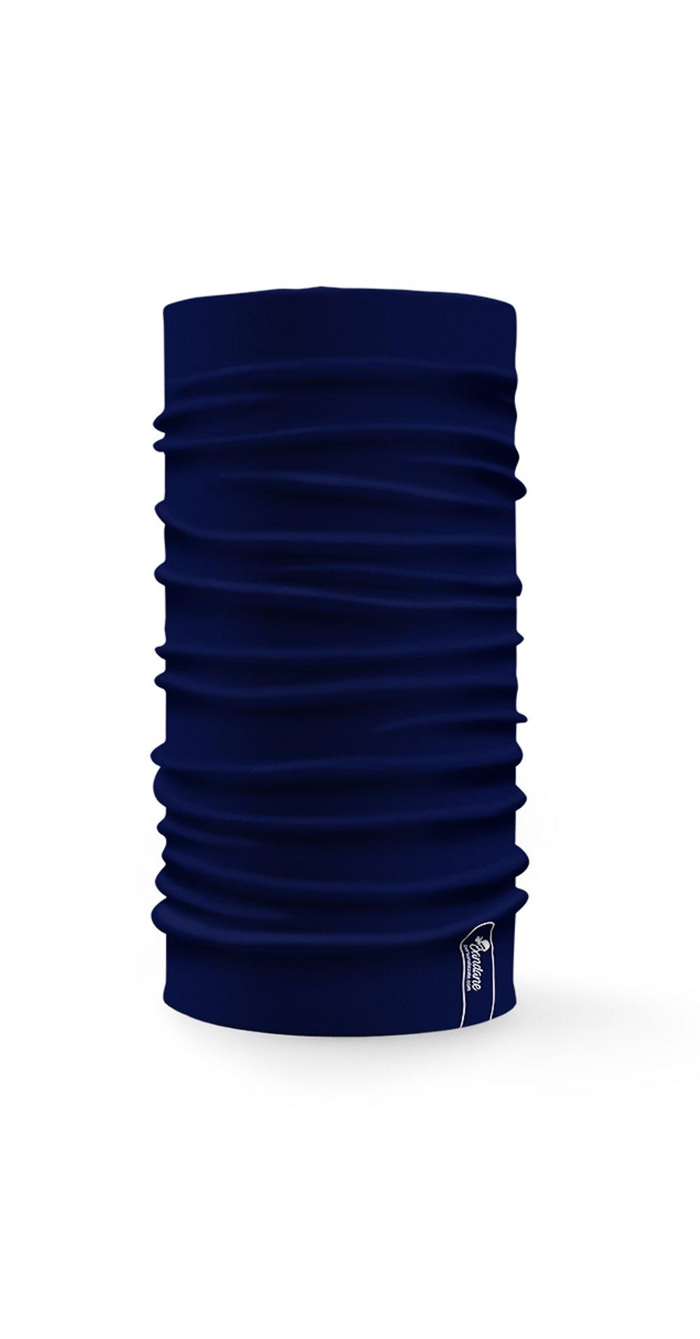 Bandana Multifunzione Con Colore Blu Navy A Tinta Unita