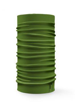Bandana tubolare multifunzione a tinta unita di colore verde oliva
