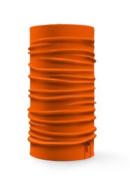 Bandana tubolare multifunzione a tinta unita color arancione fluo
