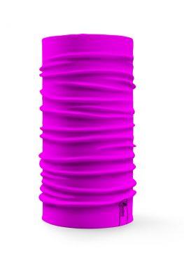 Bandana tubolare multifunzione a tinta unita Pink Fluo