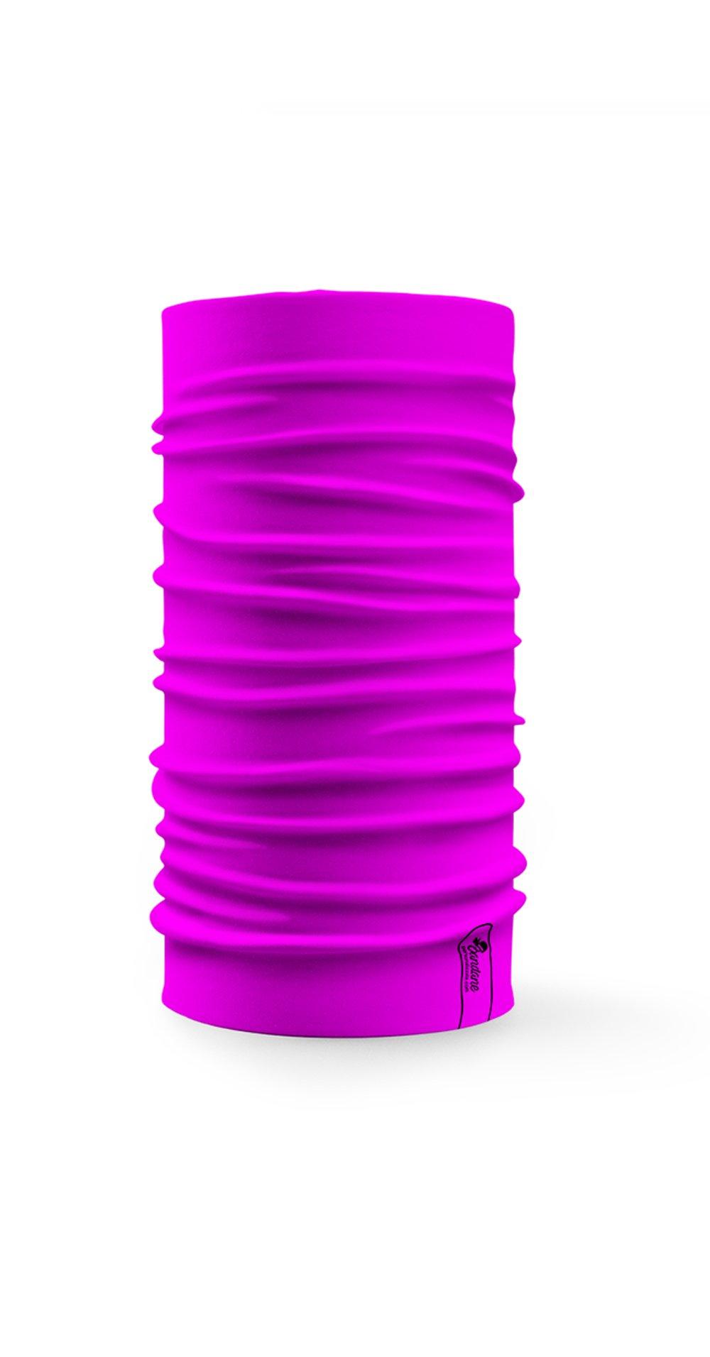 Bandana Multifunzione Con Colore Rosa Fluo A Tinta Unita Alta