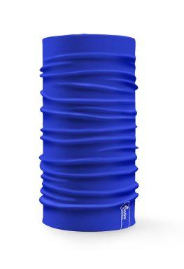 Bandana tubolare multifunzione a tinta unita di colore blu royal