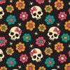 skulls & flowers texture