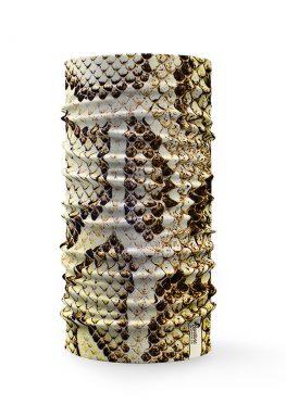 Bandana tubolare multifunzione a effetto pelle di serpente