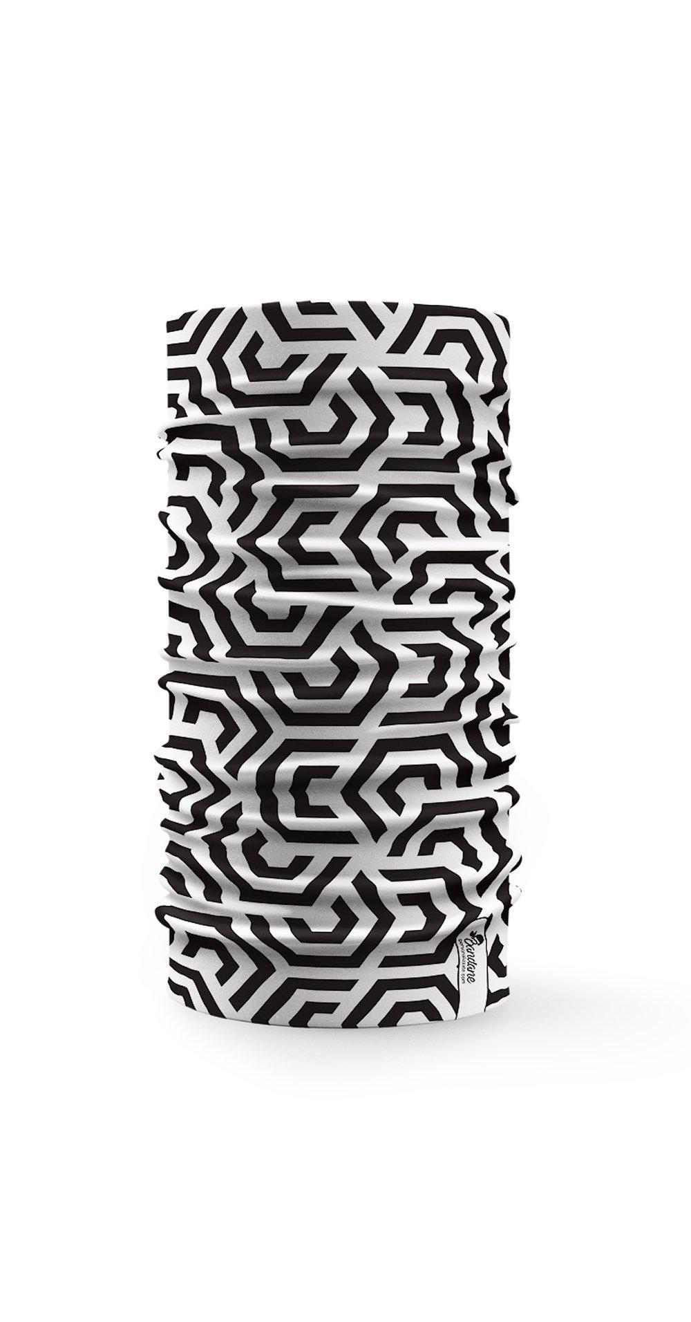 Disegni Geometrici Bianco E Nero bandane multifunzione con disegni geometrici in bianco e nero
