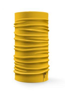 Bandana tubolare multifunzione a tinta unita di colore giallo