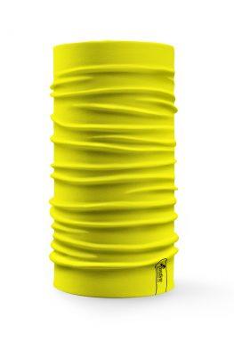 Bandana tubolare multifunzione a tinta unita di colore giallo limone