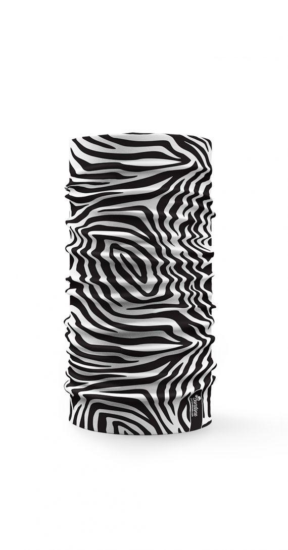Bandana tubolare multifunzione raffigurante la trama del mando di una zebra