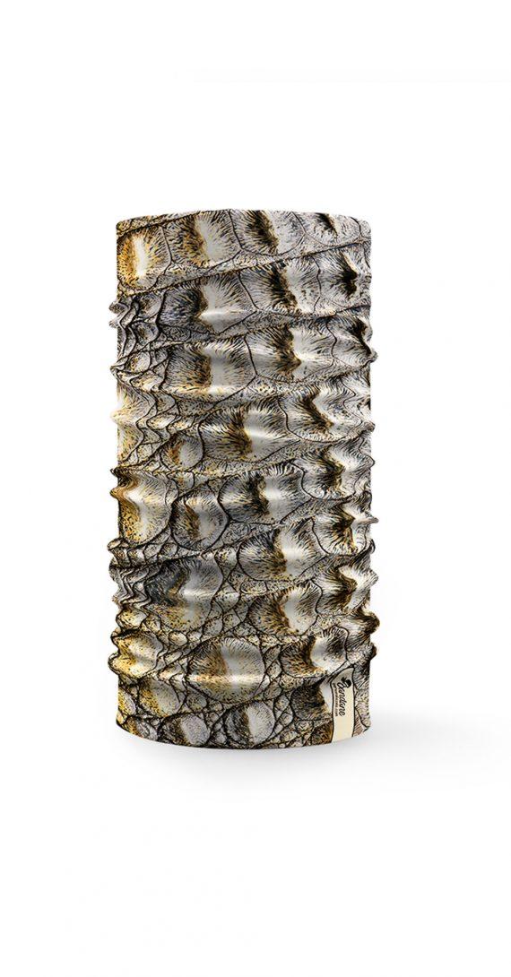 Bandana tubolare con texture di pelle di coccodrillo