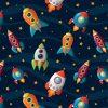 Scaldacollo Bandana Spazio Razzi Astronavi Bambini Universo