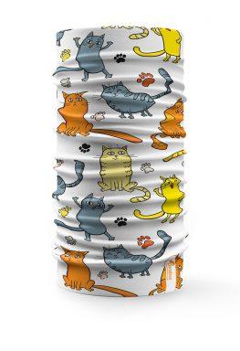 Scaldacollo tubolare Gatti Cartoon Bandana per bambini