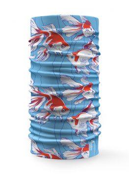 Scaldacollo Bandana Pesci Tropicali su Sfondo Azzurro