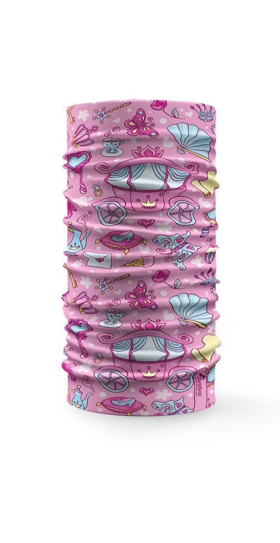 Scaldacollo bandana principessa bambina rosa