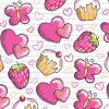 Scaldacollo Bambine Ragazze Rosa Cuori Muffin Fragole Bandana