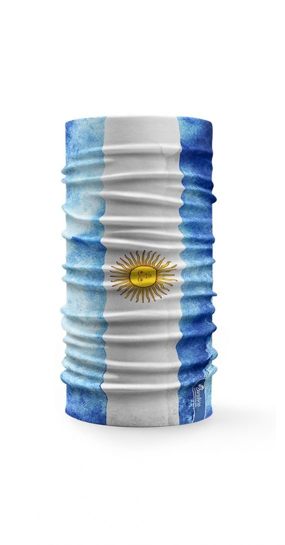 bandana scaldacollo con stampa della bandiera argentina