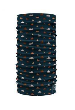 Bandana scaldacollo con stampa montagne stilizzate