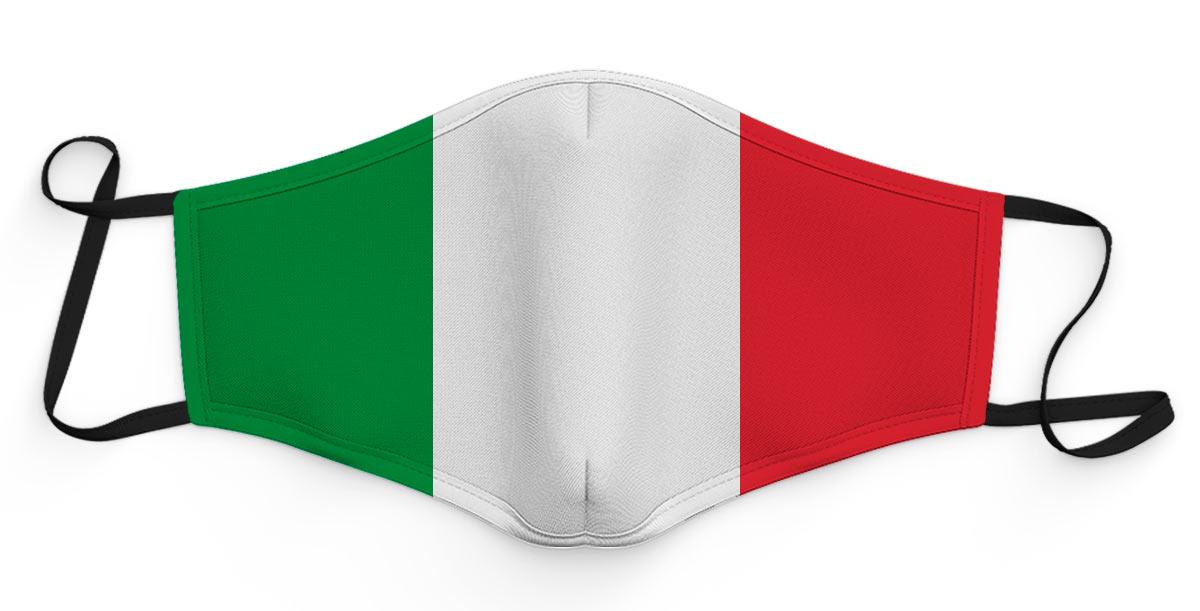 mascherina tricolore italia