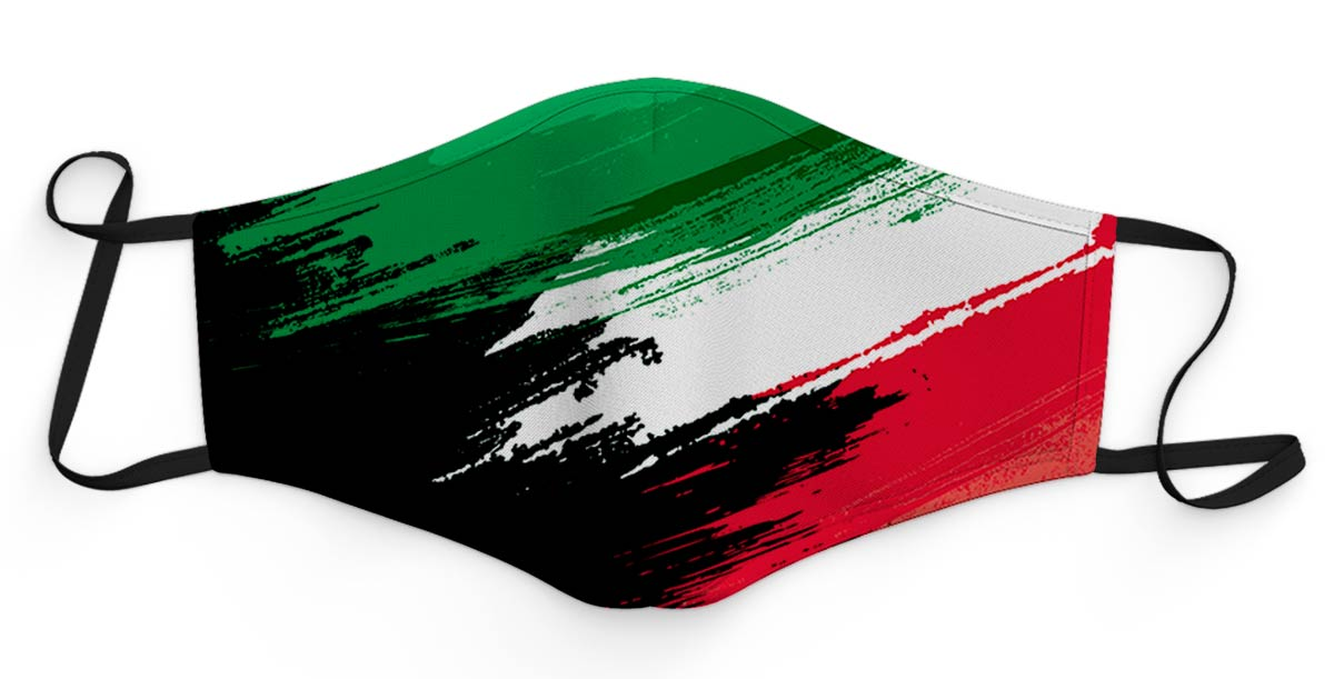 mascherina vernice tricolore